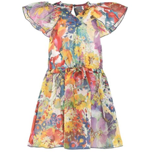 Stella McCartney Silk And Cotton Floral Dress: 8 Years