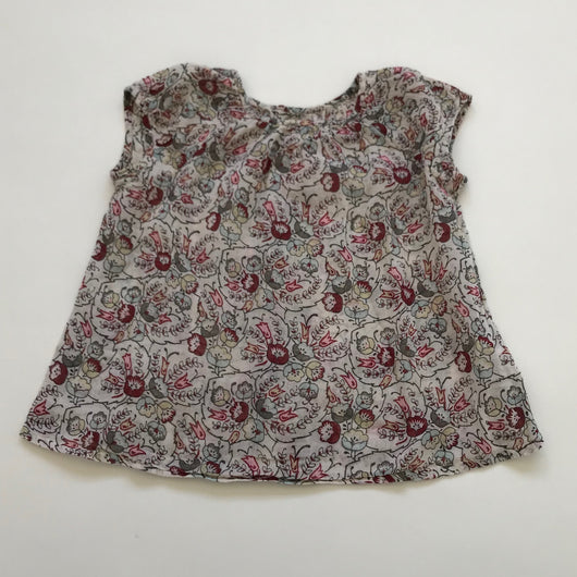 Bonpoint Floral Gauzy Cotton Summer Top