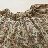 Bonpoint Floral Print Blouse With Gathered Neckline: 4 Years