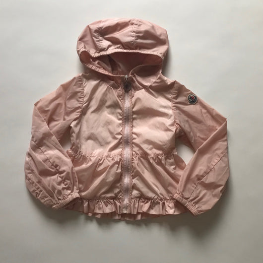 Moncler Light Pink Rain Jacket: 3 Years
