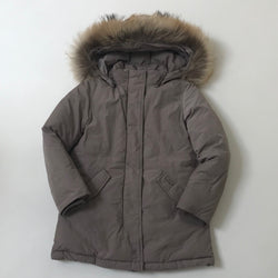 Woolrich Pewter Parka With Fur Trim