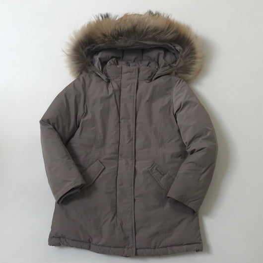 Woolrich Pewter Parka With Fur Trim: 8 Years