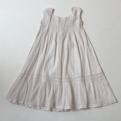 Bonpoint Pale Pink Cotton Smocked Dress