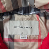 Burberry Red Raincoat With Burberry Check Trim