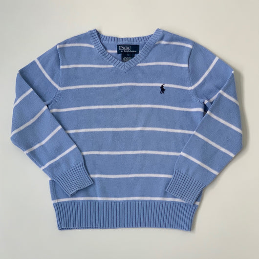 Ralph Lauren Blue And White Stripe Cotton Jumper: 5 Years