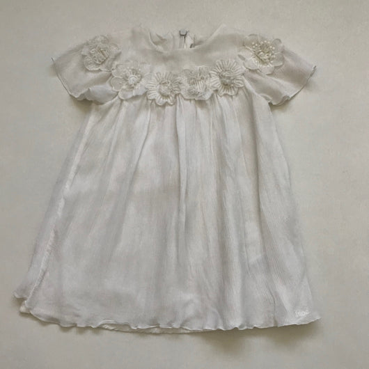 Chloé White Dress With Floral Trim: 2 Years