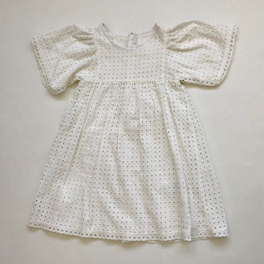 Chloé White Broderie Anglaise Dress: 8 Years