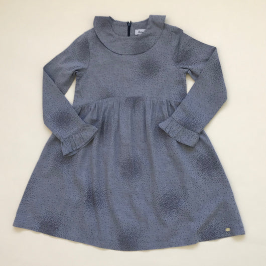 Tartine et Chocolat Blue Flecked Dress With Collar