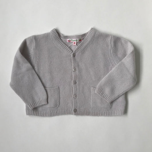 Bonpoint Pale Grey Cashmere Cardigan