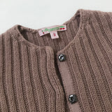 Bonpoint Dusty Pink Ribbed Cardigan