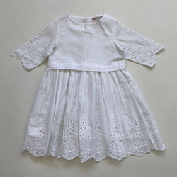 Bonpoint White Cotton Broderie Anglaise Dress