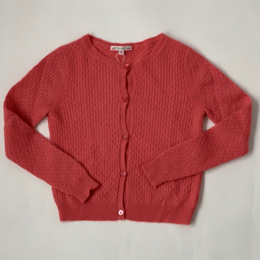 Bonpoint Raspberry Cashmere Cardigan: 8 Years