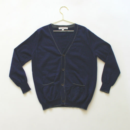 Caramel Navy Wool/ Cashmere Cardigan: 6 Years