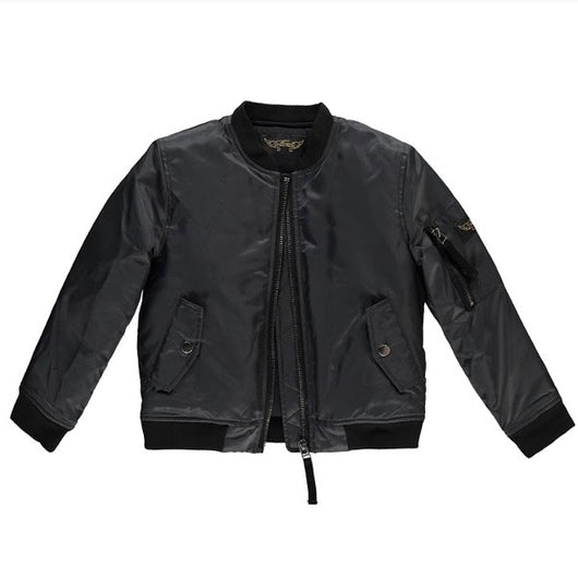 Finger In The Nose Dark Grey Bomber Jacket: 8-9 Years (Brand New)