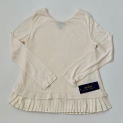 Ralph Lauren Cream Top With Pleat Detail: 8 Years (Brand New)