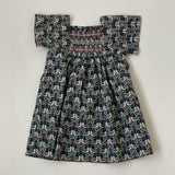 Bonpoint Singing Bird Liberty Print Cotton Dress: 3 Years