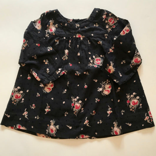 Bonpoint Black Floral Cotton Dress