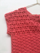 Bonpoint coral crochet summer dress