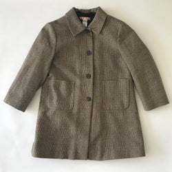 Bonpoint Prince Of Wales Check Wool Coat With Fleece Lining