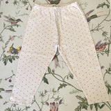 Bonpoint Cream And Gold Polka Dot Cotton Top And Leggings Set