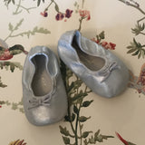 Bonpoint Silver Baby Ballet Pumps