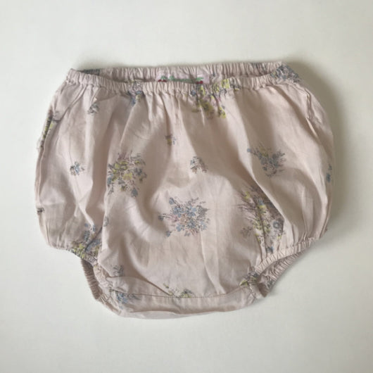 Bonpoint Dusky Pink Floral Bloomers: 18 Months