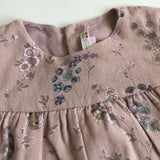 Bonpoint Dusty Pink Floral Brushed Cotton Dress: 2 Years