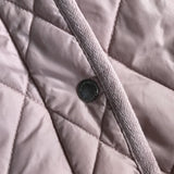 Bonpoint Dusty Pink Quilted Jacket With Brown Fleece Lining