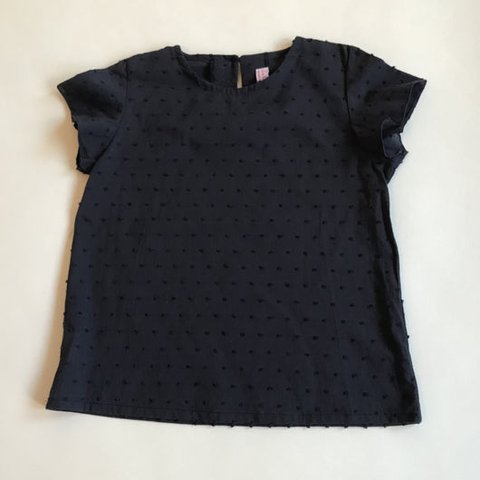 La Coqueta Navy Cotton Polka Dot Blouse: 5 Years