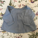 Bonton Duck Egg Blue Lace Trimmed Blouse