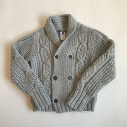 Bonpoint Thick Alpaca Mix Cable Knit Cardigan: 6 Years