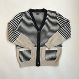 Loro Piana Cotton And Silk Blend Stripe Cardigan: 6 Years