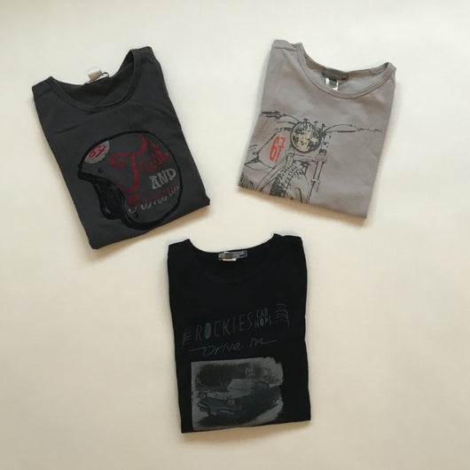 Set of Three Bonpoint Boys Long-Sleeve Cotton T-Shirts