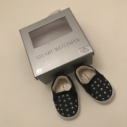 Stuart Weitzman Baby Vance Studded Pram Shoes: 0-3 Months