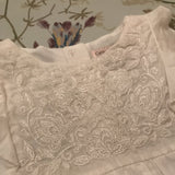 Catherine Malendrino White Cotton Embroidered Blouse