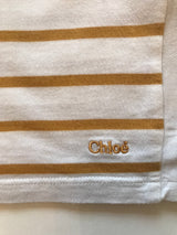 Chloé Mustard And White Stripe Cotton Dress: 8 Years