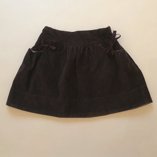 Bonpoint Mulberry Cord Skirt With Ribbon Ties