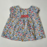 Bonpoint Blue Betsy Liberty Print Blouse: 12 Months