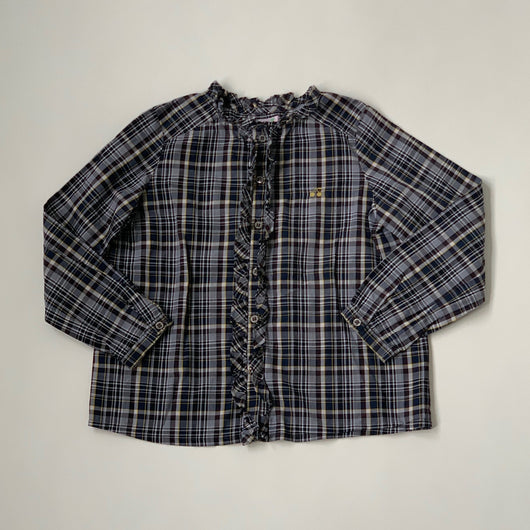 Bonpoint Check Cotton Blouse: 6 Years