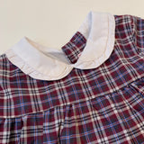 La Coqueta Tartan Dress With Collar: 12 Months