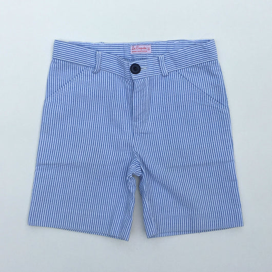 La Coqueta Blue And White Stripe Shorts