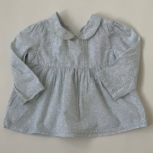 Marie-Chantal Pale Blue Blouse With Collar: 12 Months