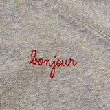 Maison Labiche Grey Bonjour Sweatshirt: 10 Years