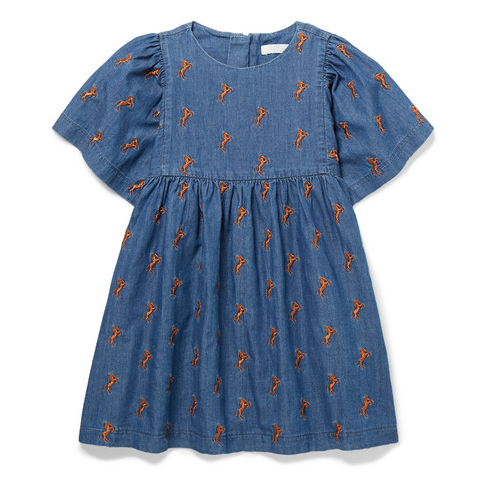 Chloé Iconic Horse Print Denim Dress: 3 Years