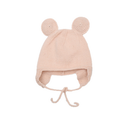 Shirley Bredal 100% Merino Wool Pale Pink Mouse Hat