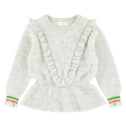 Simple Kids Grey Jumper With Frill Detail: 6 Years