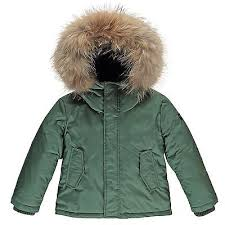 Finger In The Nose Khaki Fur Lined Down Parka