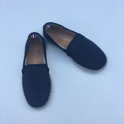 Rivieras Navy Blue Canvas Slip On Shoes