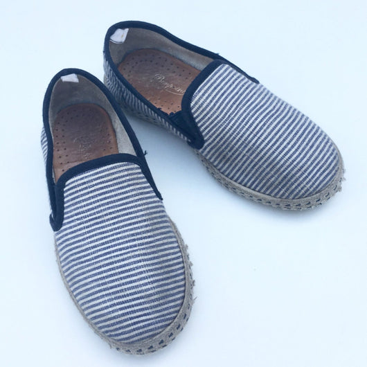 Rivieras for Bonpoint Stripe Slip On Canvas Shoes
