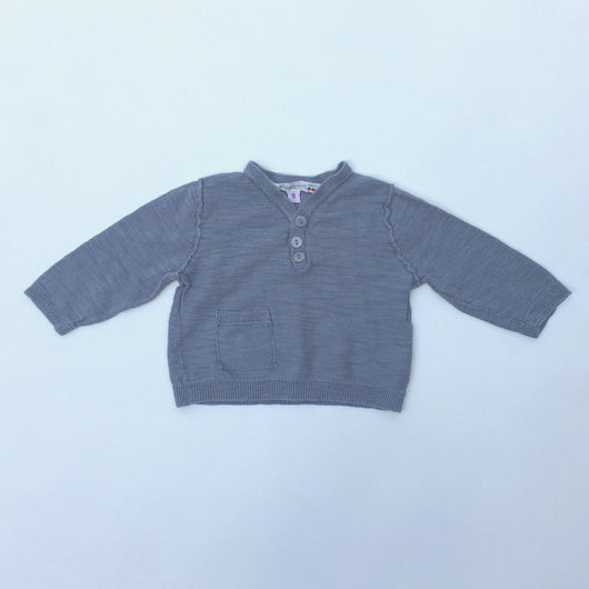 Bonpoint Grey Baby Cotton Knit